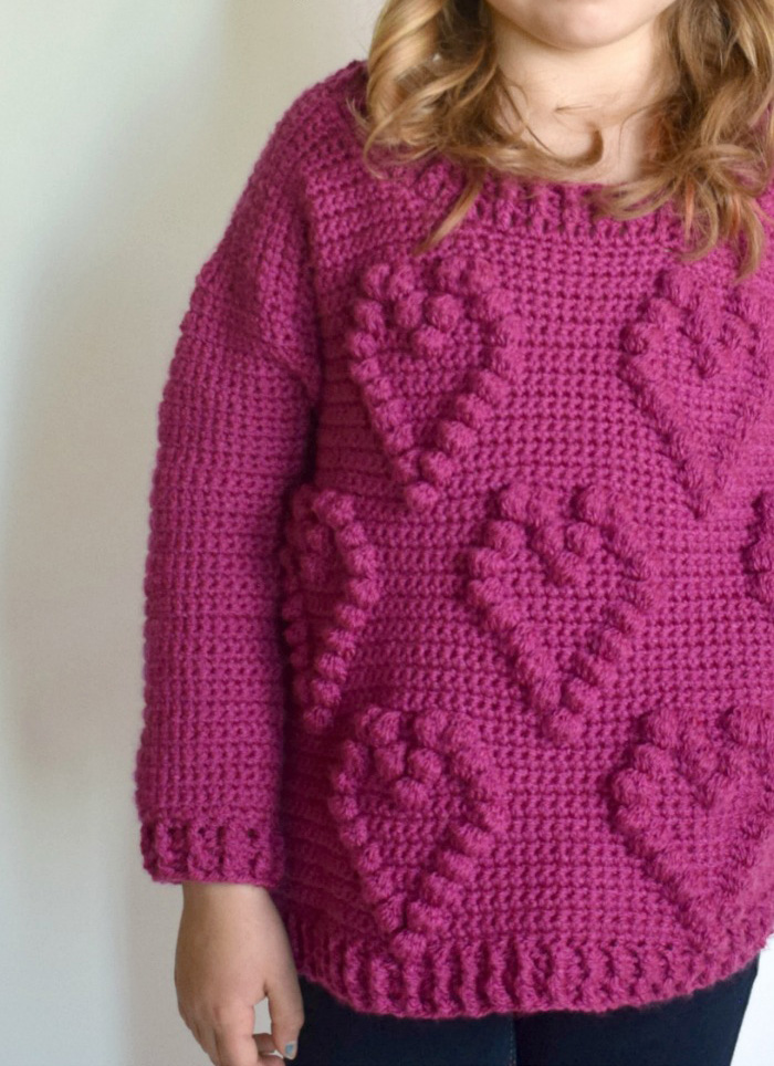 Sweetheart Sweater - These crochet sweaters make for amazing gifts, that will surely be well used, and well worn. #CrochetSweaterPatterns #CrochetSweater #CrochetPatterns