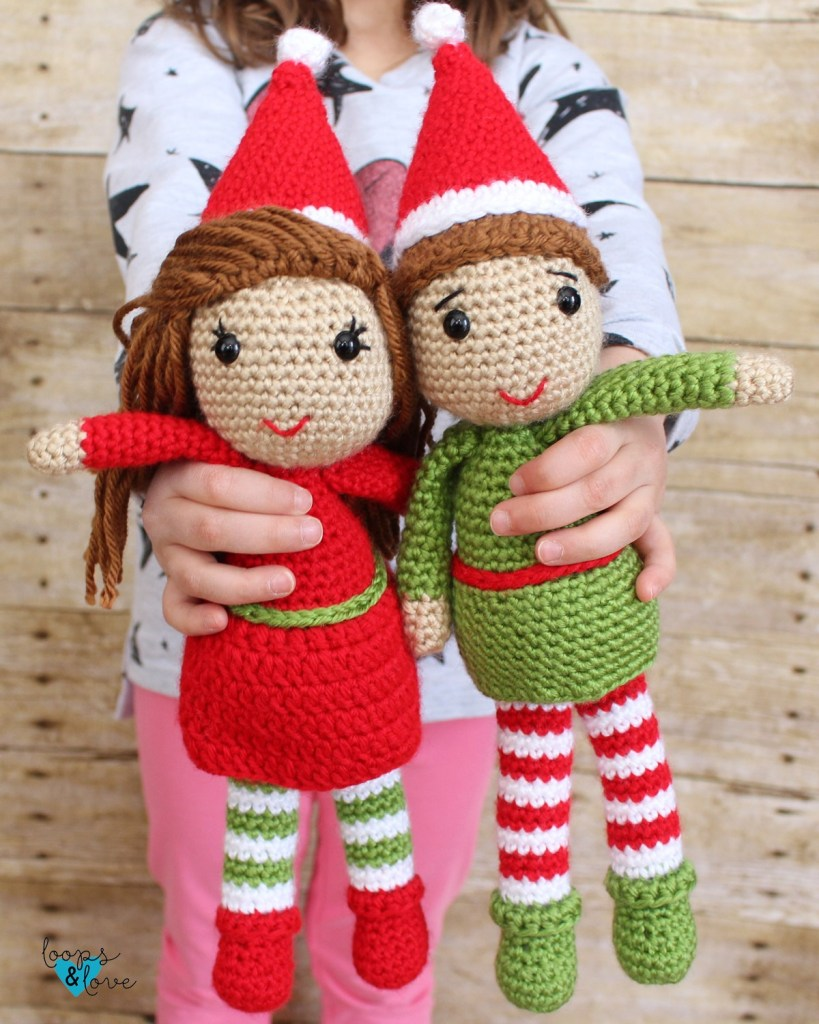 Elf Amigurumi - Fill this holiday season with crochet toy projects that will fill your home with more joy than ever before. #crochettoys #christmastoys #crochetamigurumi