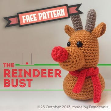 Friendly Reindeer - Fill this holiday season with crochet toy projects that will fill your home with more joy than ever before. #crochettoys #christmastoys #crochetamigurumi