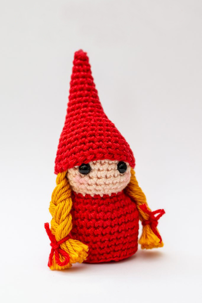 Gunhild The Gnome Girl - Fill this holiday season with crochet toy projects that will fill your home with more joy than ever before. #crochettoys #christmastoys #crochetamigurumi