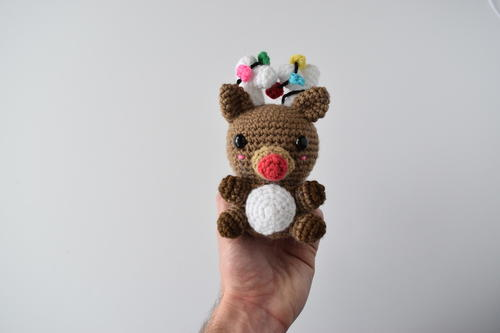 Lux the Reindeer - Fill this holiday season with crochet toy projects that will fill your home with more joy than ever before. #crochettoys #christmastoys #crochetamigurumi