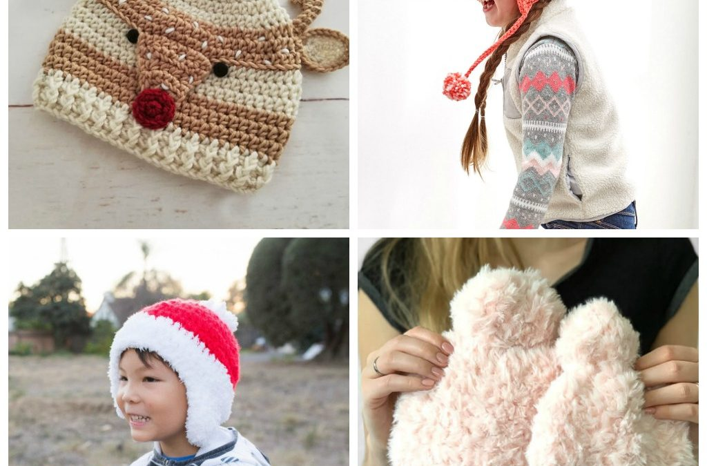 25 Fun Christmas Crochet Hat Patterns for Kids