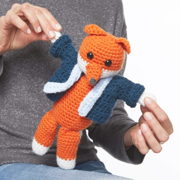 Mr. Fox Toy - Fill this holiday season with crochet toy projects that will fill your home with more joy than ever before. #crochettoys #christmastoys #crochetamigurumi