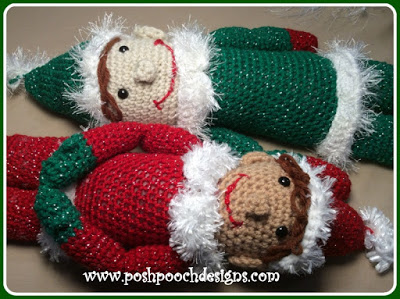 Posh Pete The Elf Doll - Fill this holiday season with crochet toy projects that will fill your home with more joy than ever before. #crochettoys #christmastoys #crochetamigurumi
