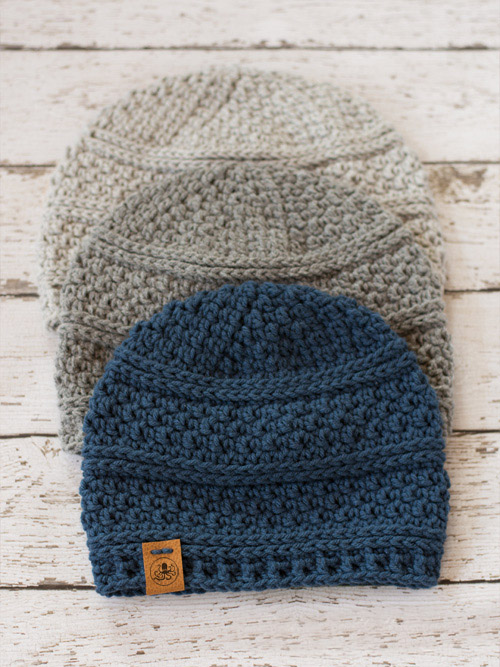 Simple Seed Stitch Beanie - This list of Christmas Crochet hat patterns will supply you with anything from the classics (Santa, Rudolph, Snowman) to fun animals and well-loved characters. #ChristmasCrochetHatPatterns #CrochetHatPatterns #CrochetPatterns