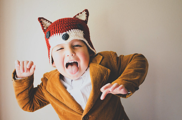 Sly Fox Hat - This list of Christmas Crochet hat patterns will supply you with anything from the classics (Santa, Rudolph, Snowman) to fun animals and well-loved characters. #ChristmasCrochetHatPatterns #CrochetHatPatterns #CrochetPatterns