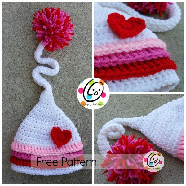 Jazlyns Baby Hat - One way you can show your love for kids this Valentine's is by crocheting these simple crochet patterns. #simplecrochetpatterns #crochetpatterns #kidscrochetpatterns
