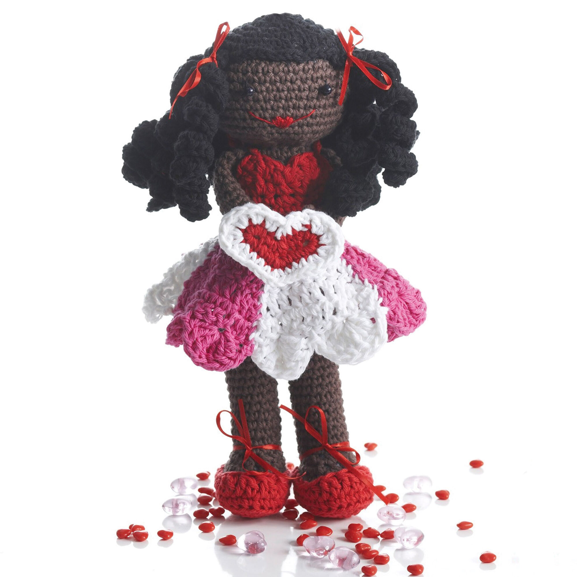 Lily Sugar'n Cream Valentines Lily Doll - One way you can show your love for kids this Valentine's is by crocheting these simple crochet patterns. #simplecrochetpatterns #crochetpatterns #kidscrochetpatterns