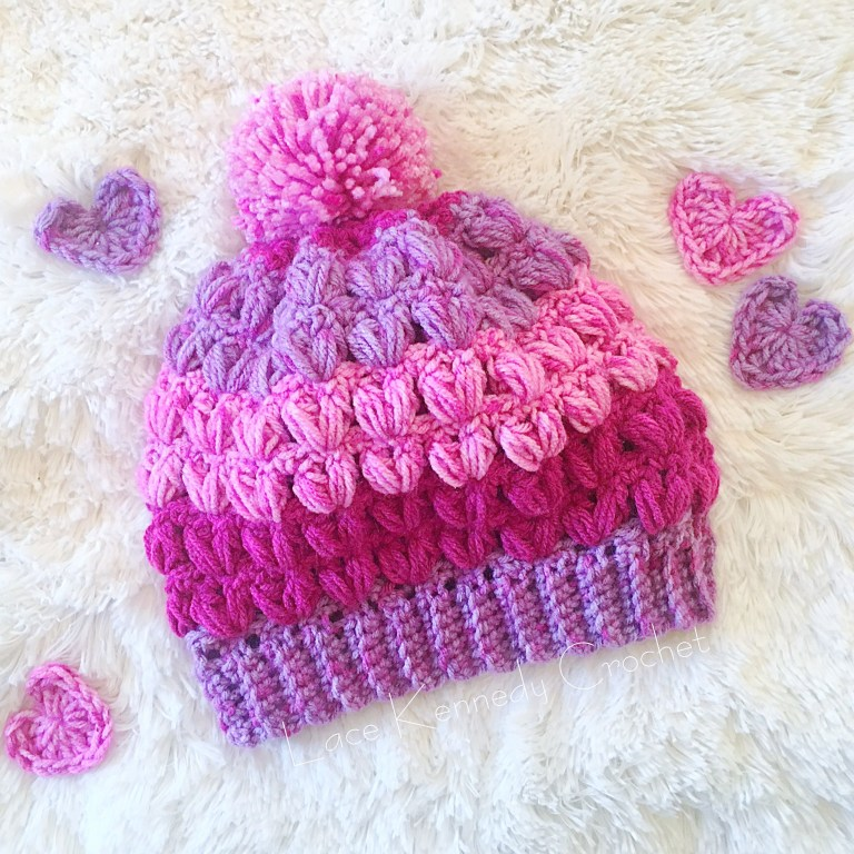 Little Sweetheart Hat - One way you can show your love for kids this Valentine's is by crocheting these simple crochet patterns. #simplecrochetpatterns #crochetpatterns #kidscrochetpatterns